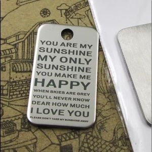 Jewelry - 𝕙𝕡𝕏𝟚! You are My Sunshine Necklace